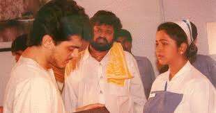 Ajith, director K Subhash and actress Radhika during the shooting of ' Pavithra'. (Express Archive Photo) | Famous child actors, Rare photos, Photo