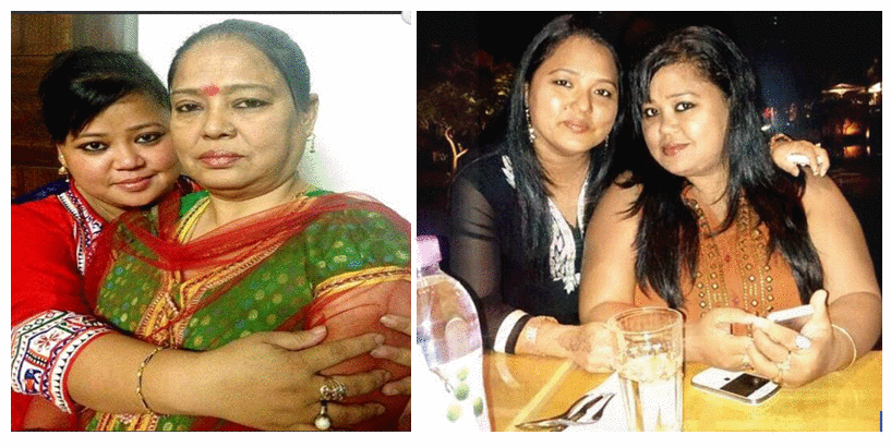 Bharti singh with his mother & sister