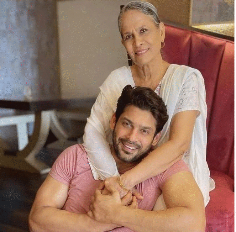 Aamir Ali Malik with his mother